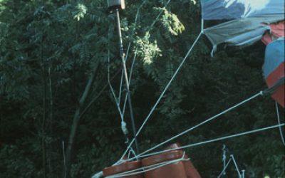 Fluchtballon - Gasflaschen und Brenner