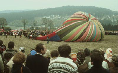 Fluchtballon Startversuch zur Wiedervereinigung am 3. Oktober 1990