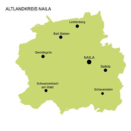 Karte des Altlandkreises Naila