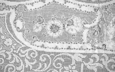 Hochzeitsdecke - Mitte-Rand-Motiv