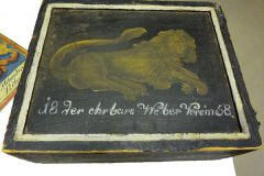 Begräbnisbilder - Holzkoffer
