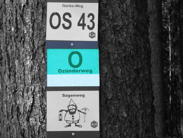 """Wanderwegmarkierung """"Ozünder-Weg"""""""