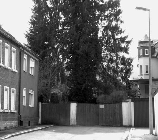 Philipp-Heckel-Straße-Sackgasse - ehemals ein Stück Gartenstraße